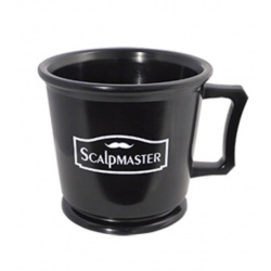 SCALPMASTER PROFESSIONAL SHAVING MUG BLACK